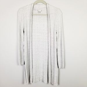 Cupio Long Open Front Long Sleeve Cardigan Size S